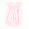Smocked Bunny Silhouette Bubble - Light Pink Pique