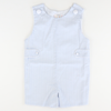 Signature Tab Shortall - Light Blue Mini Check Seersucker