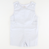 Signature Tab Shortall - Light Blue Stripe Seersucker