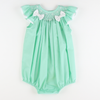 Smocked Geo Bow Bubble - Mint