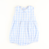 Sunday Brunch Tie Back Girl Bubble - Light Blue Check