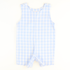 Sunday Brunch Shortall - Light Blue Check