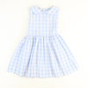 Sunday Brunch Tie Back Dress - Light Blue Check