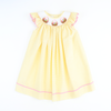 Smocked Easter Basket Bishop - Yellow Stripe