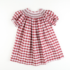 Burgundy Check Smocked Geo Bishop