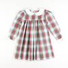 Windsor Plaid Collared Long Sleeve Dress