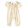 Smocked Thanksgiving Friends Corduroy Girl Long Bubble