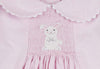 Smocked White Bunny Collared Dress - Girls - Stellybelly - 3