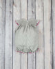 Smocked Gray Cross Bubble - Girls - Stellybelly - 2