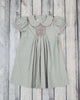 Smocked Gray Cross Collared Dress - Girls - Stellybelly - 1