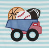Sports Balls Dump Truck Applique T-Shirt - Boys - Stellybelly - 2