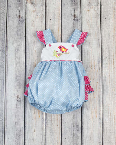 Birdie Branch Applique Ruffle Bubble - Girls - Stellybelly - 1