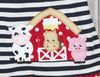 Barnyard Applique Knit Jumper Dress