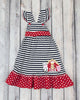 Barnyard Applique Knit Jumper Dress - Girls - Stellybelly - 1