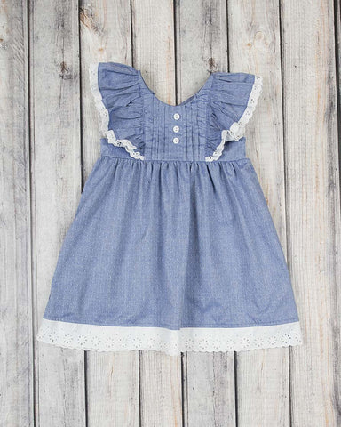 Navy Dot Harper Dress