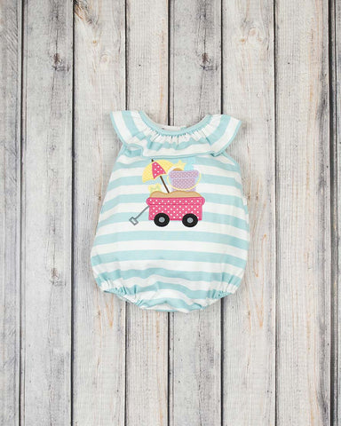 Beach Wagon Applique Knit Bubble