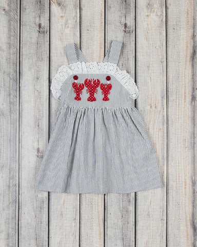 Lobster Applique Caroline Dress