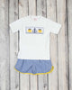 Smocked Nautical Short Set