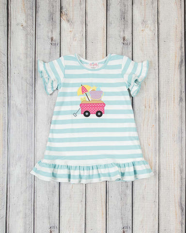 Beach Wagon Applique Knit Dress