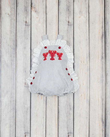 Lobster Applique Olivia Bubble
