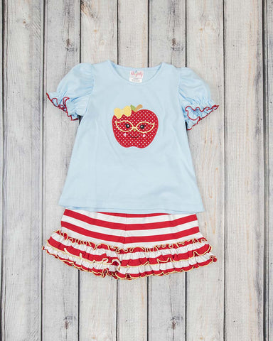 Apple Applique Elliot Short Set