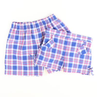 Classic Shorts - Blue, Pink, & White Plaid - Stellybelly