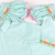 Smocked Bunnies & Carrots Shortall - Mint Mini Check