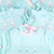Smocked Cotton Tail Bunnies Girl Bubble - Light Mint Pique