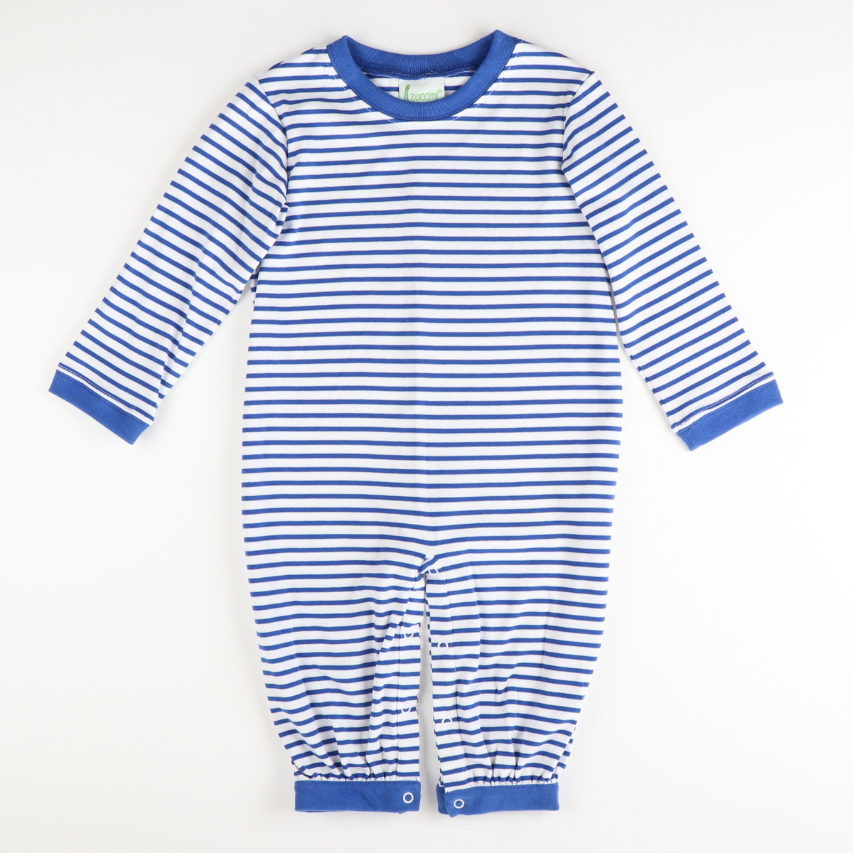 Classic Boys Long Bubble - Royal Stripe Knit