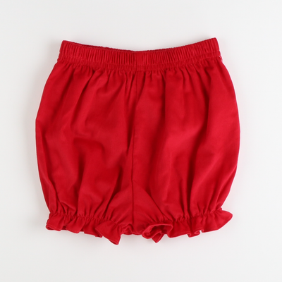Bow Bloomer - Red Corduroy