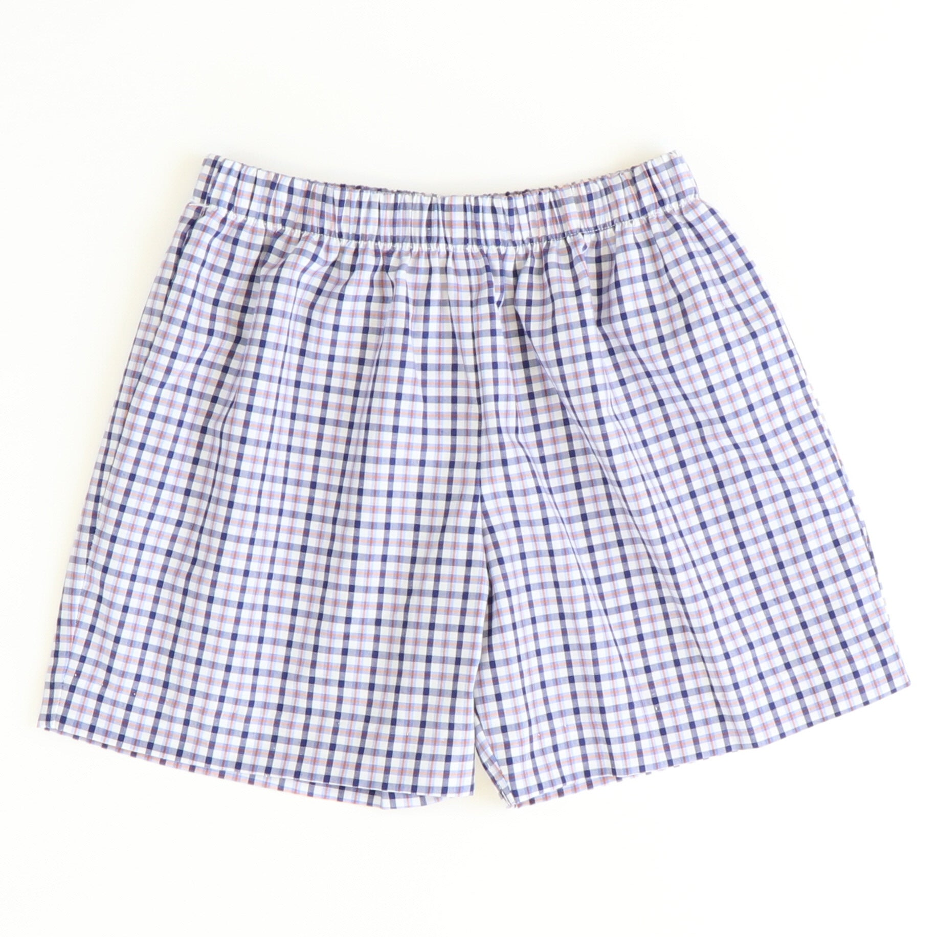 Signature Shorts - Blue & Orange Plaid - Stellybelly