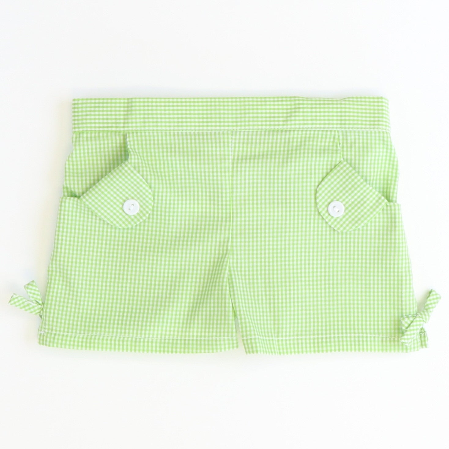 Bow Shorts - Green Check