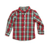 Red & Green Plaid Button Down Shirt