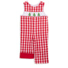 Smocked Christmas Tree Red Check Longall