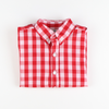 Holiday Red & White Check Button Down Shirt