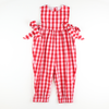 Holiday Red & White Check Romper