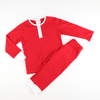Holiday Red Knit Pajama Set