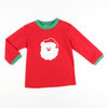 Santa Face Applique Long Sleeve Shirt