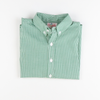 Christmas Green Mini Gingham Button Down Shirt