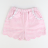 Soda Shop Shorts - Pink Check Seersucker
