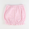 Soda Shop Bloomer Shorts - Pink Check Seersucker