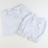 Seaside Seersucker Bow Shorties - Light Blue