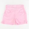Light Pink Check Bow Shorts