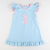 Appliqué Floral Easter Bunny Knit Dress