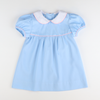 Charlotte Collared Dress - Light Blue Pique