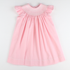 Smocked Geo Bishop - Pink Pique