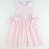 Seaside Seersucker Bow Dress - Light Pink