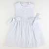 Seaside Seersucker Bow Dress - Light Blue