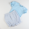 Out & About Knit Onesie - Blue