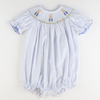 Smocked Storybook Rabbit Girl Bubble